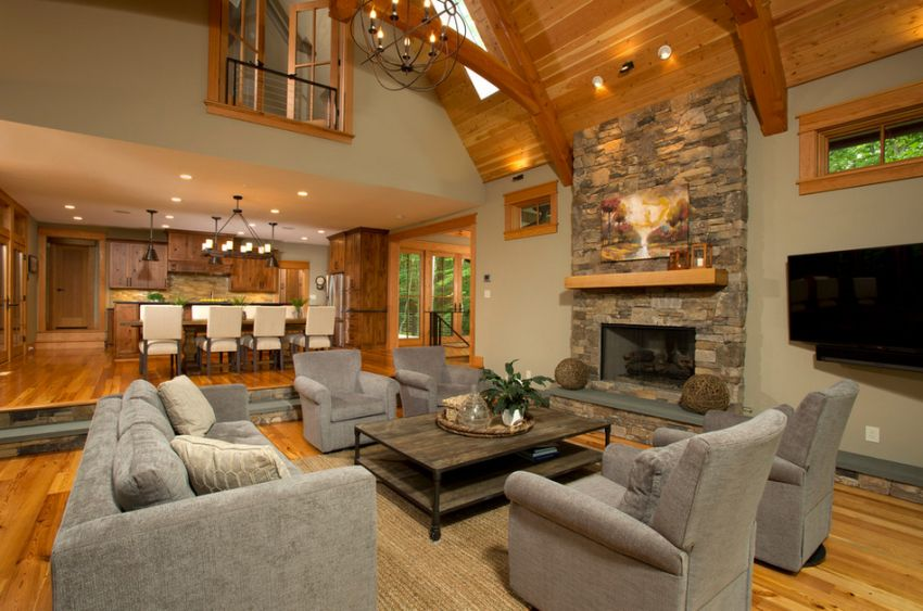 Rustic living room design ideas Rustic modern living room design