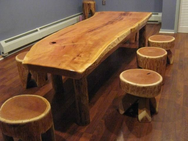 Mobilier rustic din lemn rotund forme armonioase - How to make rustic wood furniture ...