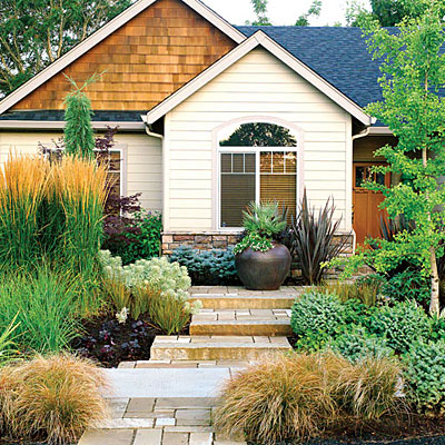 Decorative stone garden ideas at home