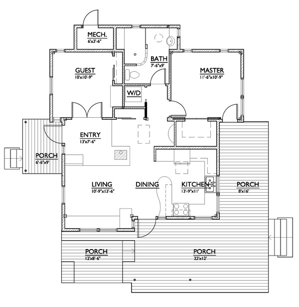 800 square feet house plans ideal spaces for Floor design sf