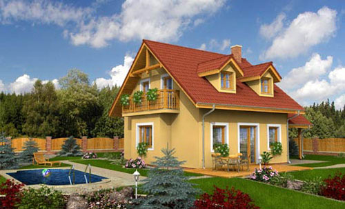 Wood frame structure houses are efficient