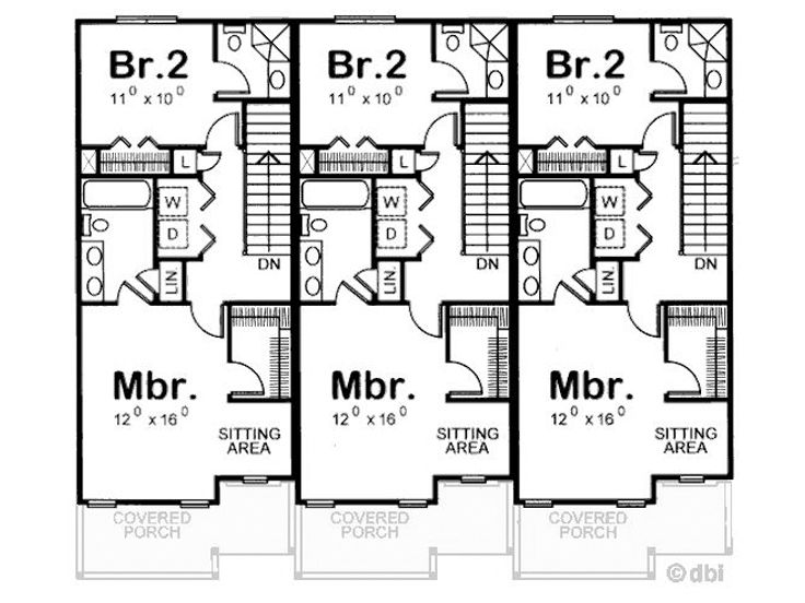 Three family house plans cost efficient choices for Family home floor plans