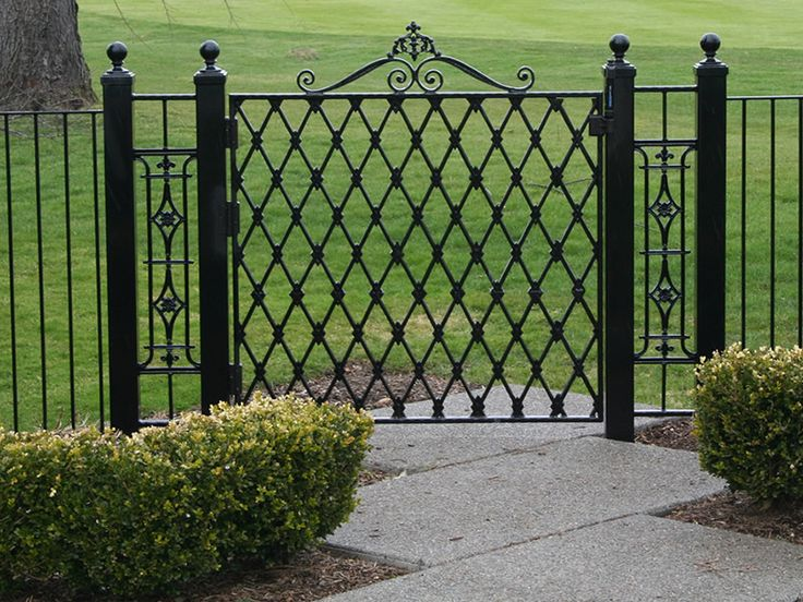 Wrought iron modern fence, elegant ideas
