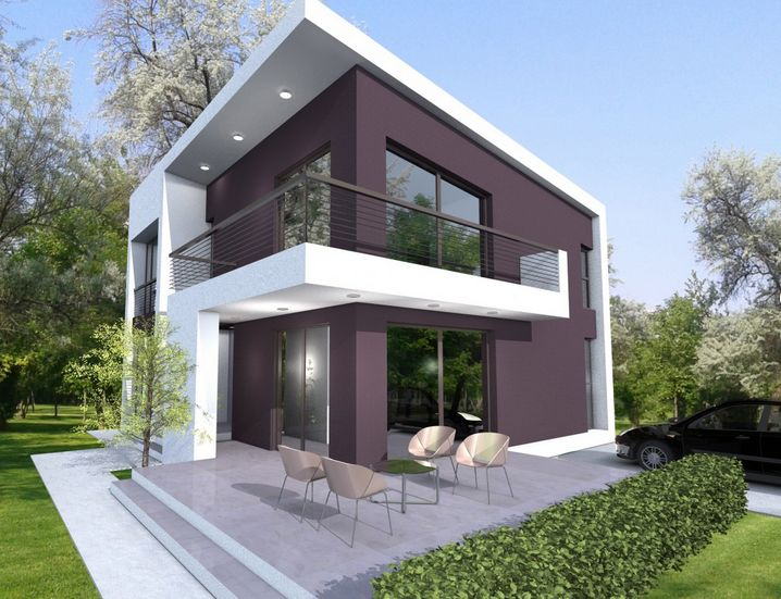 Small modern one story house plans for Small two story house
