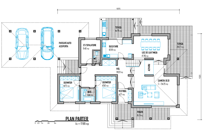 proiecte de case cu doua nivele two story house plans with master on first floor 7