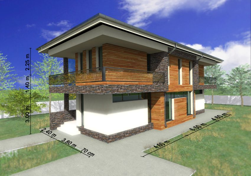 Two story house plans with master on first floor are practical