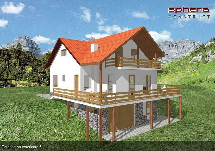 Proiecte de case in panta un design functional for Slope home design