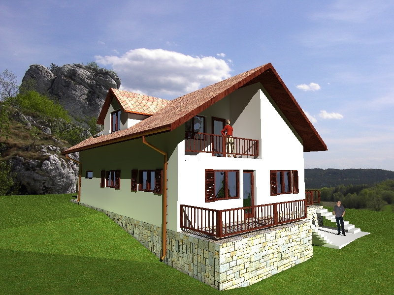 proiecte de case in panta slope house plans 7
