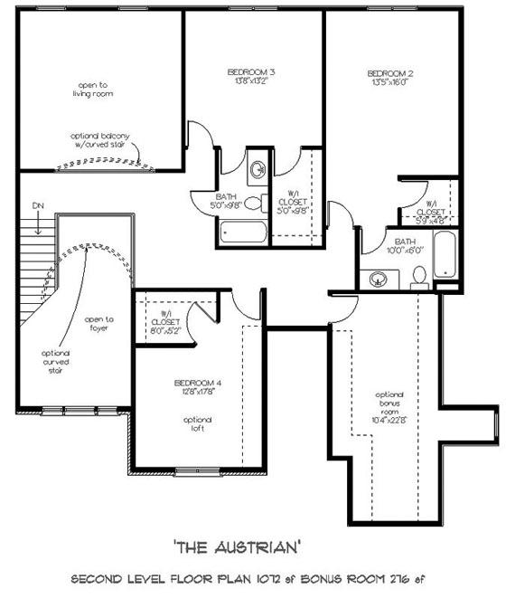Austrian style house plans mountains 39 beauty for Upstairs plans