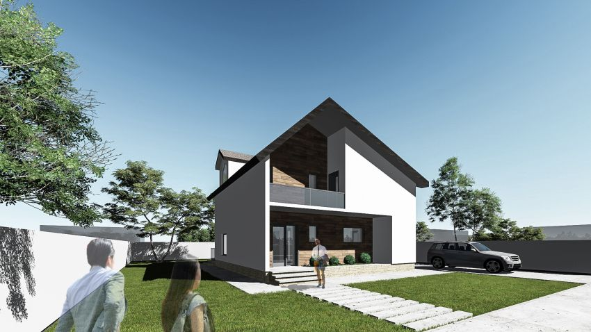 Modern house designs with attic upstairs