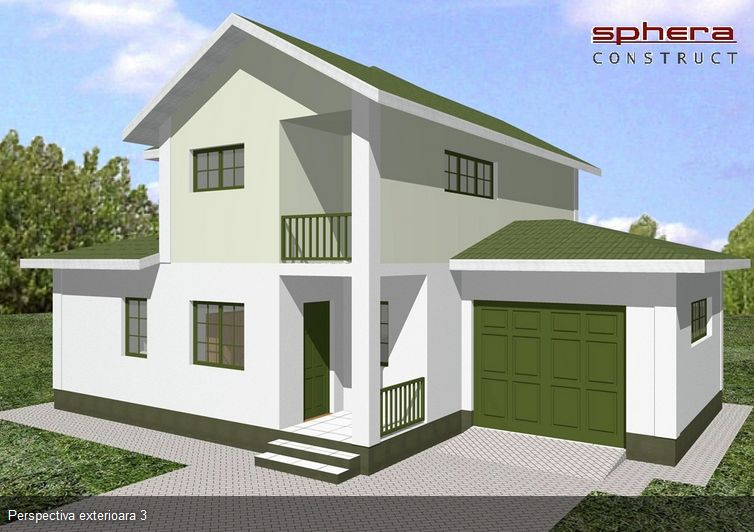 proiecte case medii cu mansarda si garaj medium size house plans 6 - Medium House 2016
