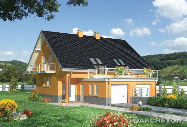 Medium size house plans multifunctional spaces for Case cu etaj si garaj