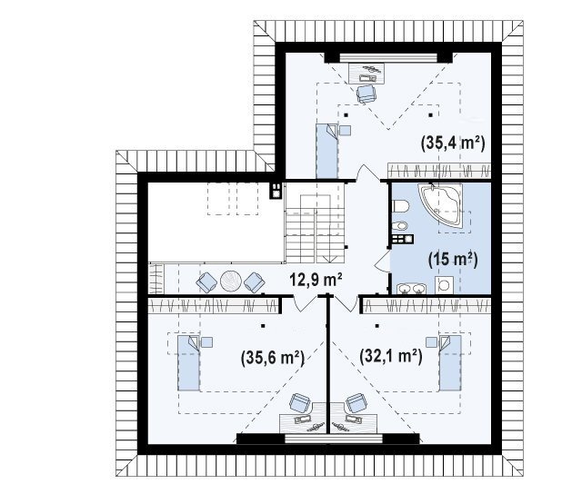 case cu lucarne Dormer window house plans 3