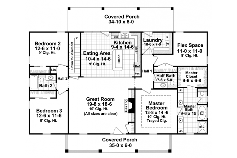 case in stil colonial Colonial style house plans 2