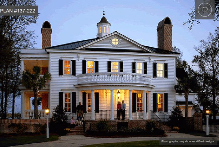 Colonial style house plans in examples