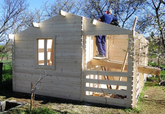 constructia unei case din lemn pas cu pas How to build a wooden house step by step 5