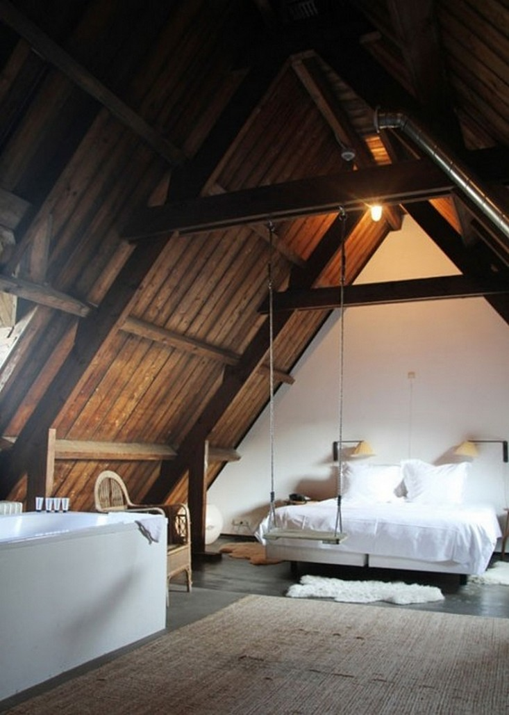 Rustic style attic design a corner full of passion An attic room