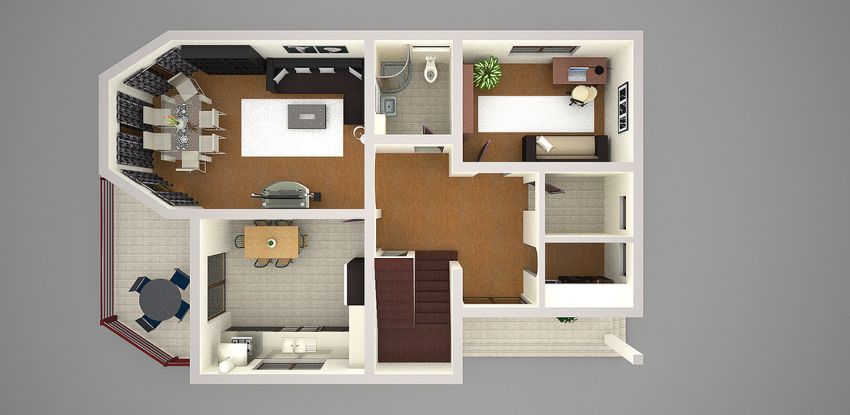 Three Bedroom Upstairs Floor Plans