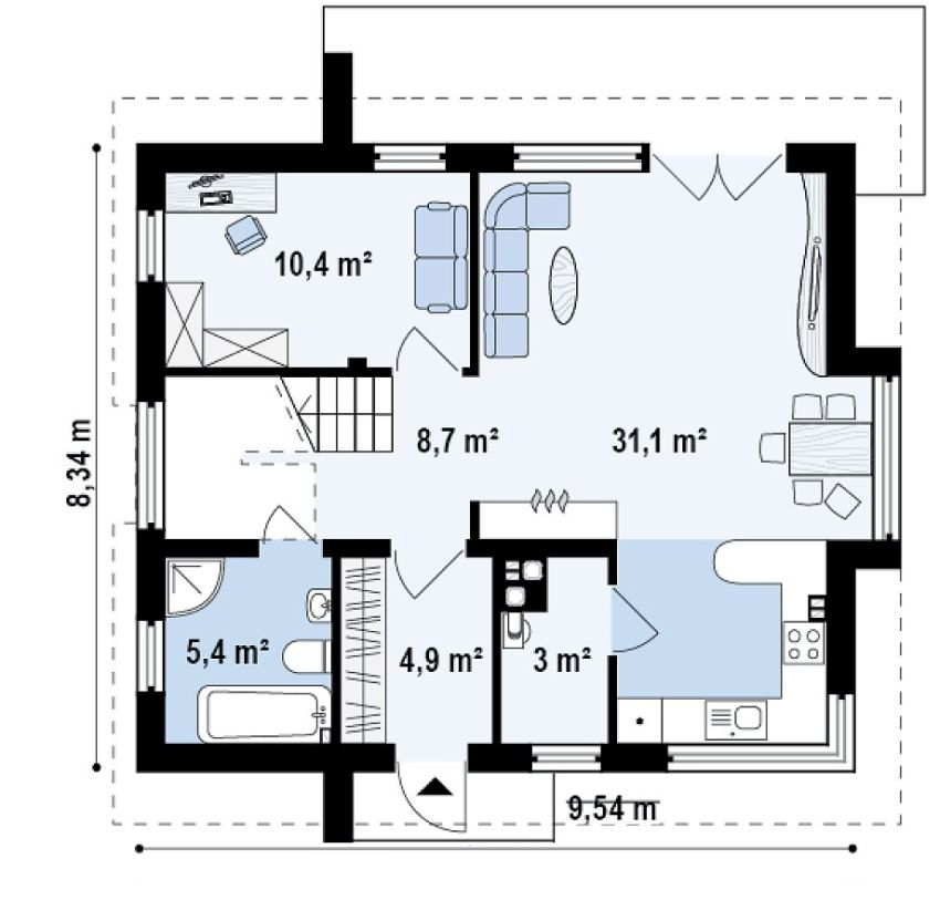 Three bedroom house plans spacious medium sized homes for Big 3 bedroom house