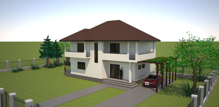 Three bedroom house plans spacious medium sized homes - Medium sized two story house plans ...