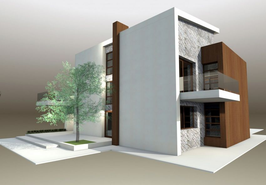 Proiecte de case moderne cu balcoane in relief foarte frumoase