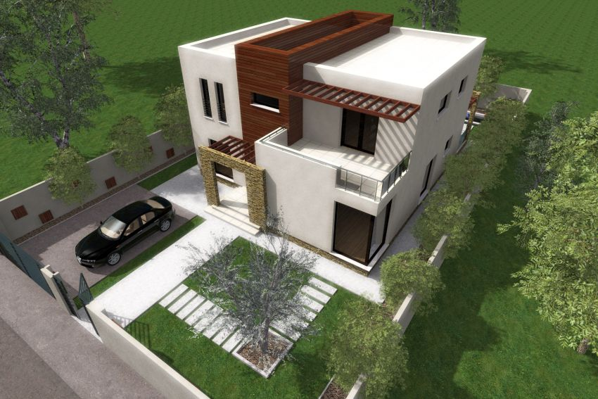 Protruding balcony modern house plans for Best house balcony design