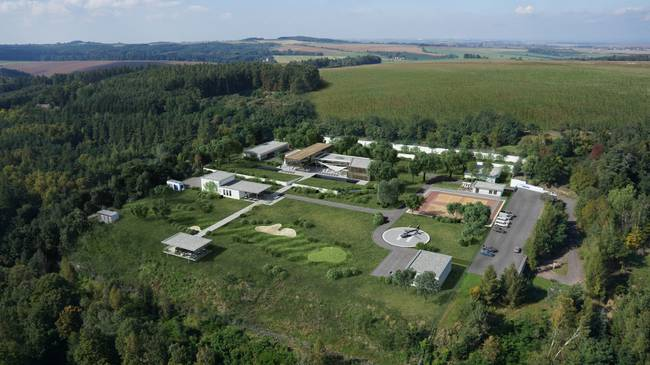The bunker compound in the Czech Republic