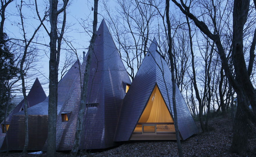 The tepee house eccentric design in the midst of the woods - The tepee house eccentric design in the midst of the woods ...