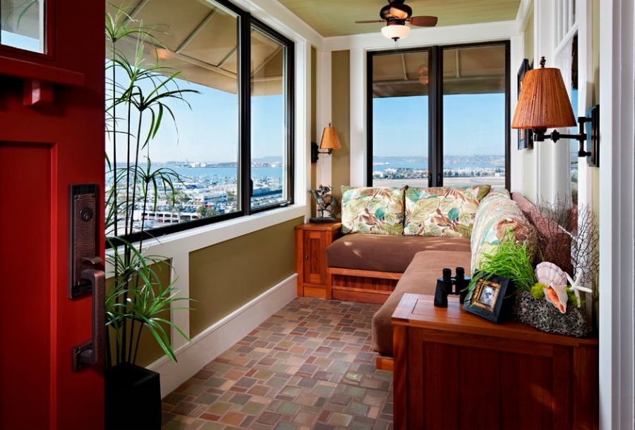 Enclosed balcony design ideas at home