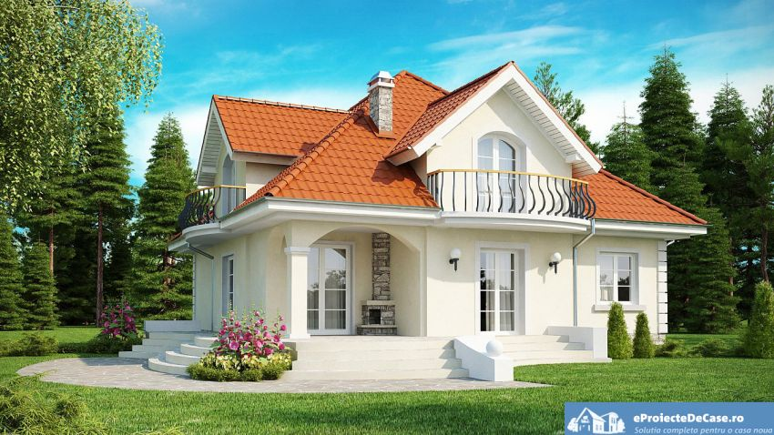 Round balcony house plans - an expressive design