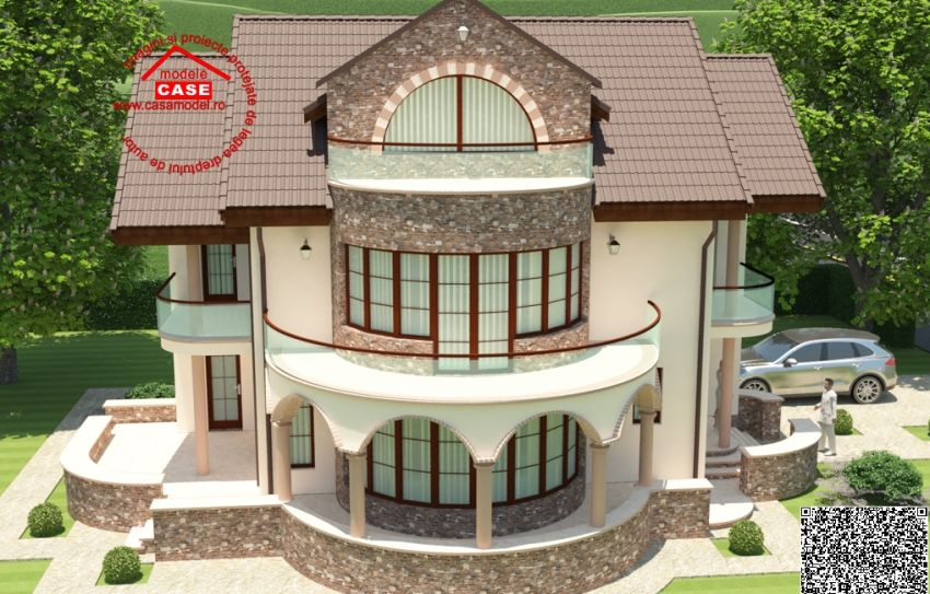 Round balcony house plans   an expressive designcase cu balcon rotund round balcony house plans