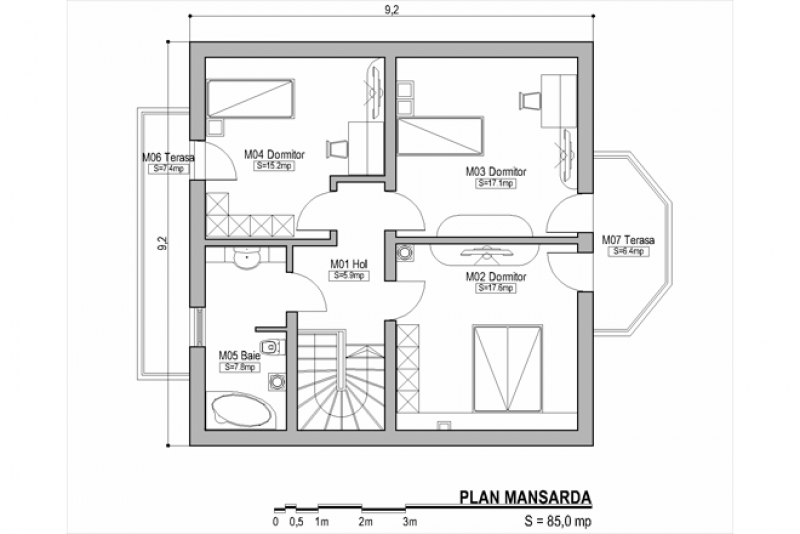 case cu bovindou Bay window house plans 8