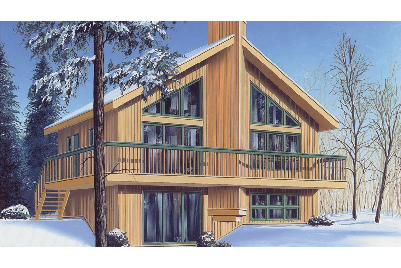 Swiss style house plans in the Alps