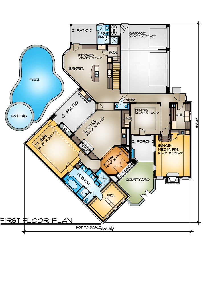 Tuscan style house plans passionate architecture – Exotic Home Floor Plans