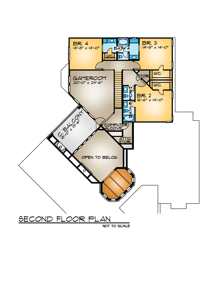 case in stil toscan Tuscan style house plans 11