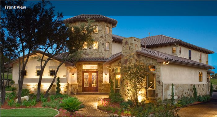 case in stil toscan Tuscan style house plans 13