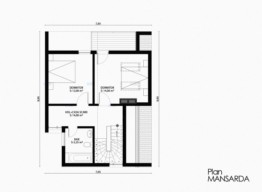 case moderne mici, cu mansarda Small modern houses with loft 4