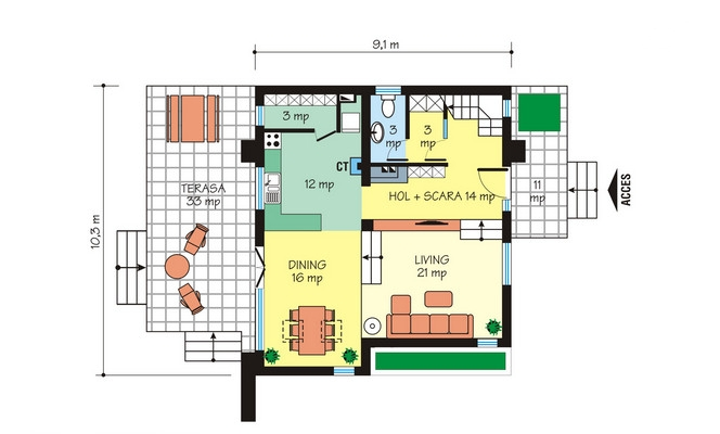 case moderne mici, cu mansarda Small modern houses with loft 7