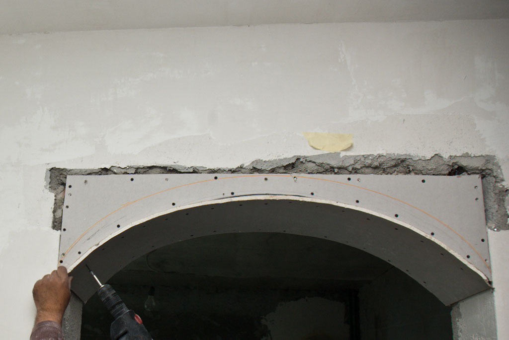 construirea unei arcade din rigips How to build a drywall arch 8