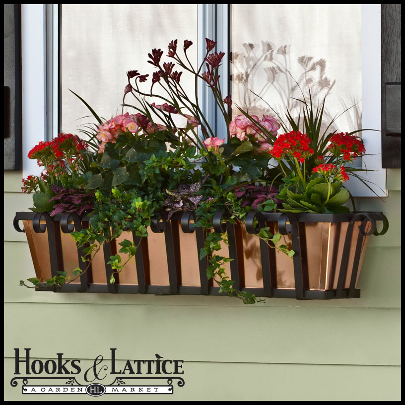 English style window boxes are superb