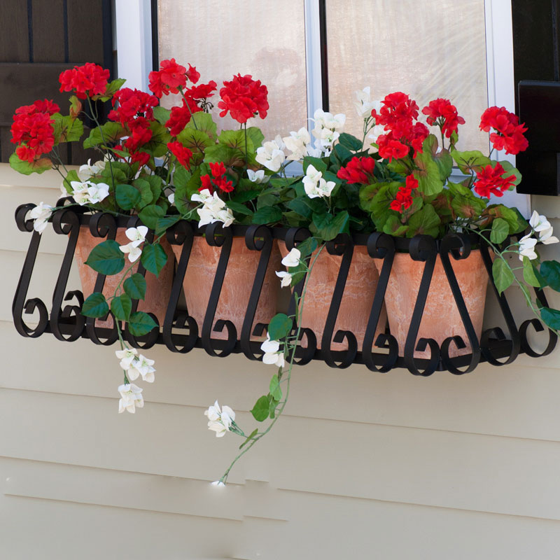 Hooksandlattice.com Iron Window Boxes
