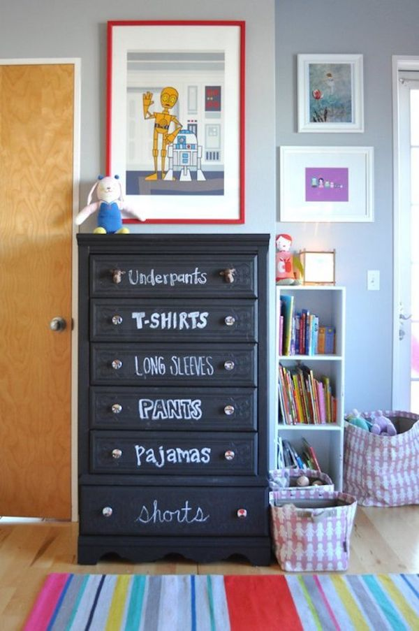 Useful organizing ideas with chalkboard at home