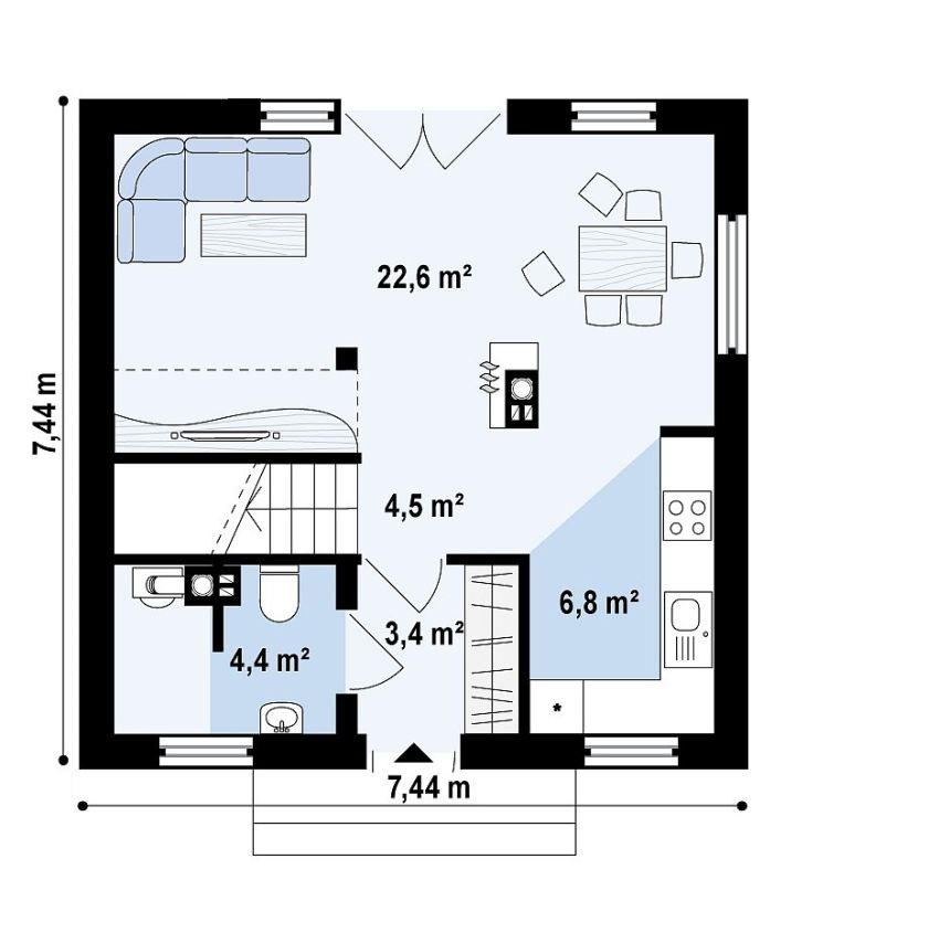 proiecte de case mici sub 100 de metri patrati Small houses under 100 square meters 7