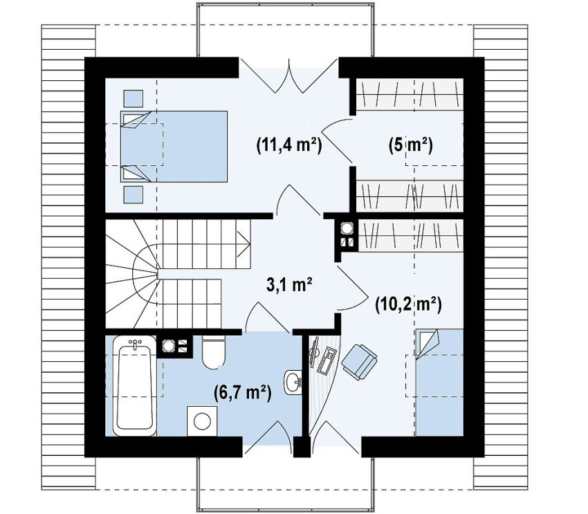 proiecte de case mici sub 100 de metri patrati Small houses under 100 square meters 8