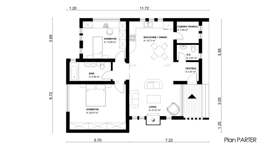 proiecte de case tineresti House plans for young families 6