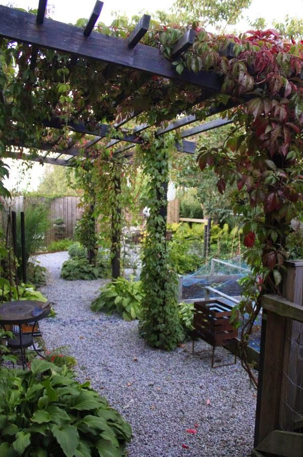Gravel alley design ideas in the garden