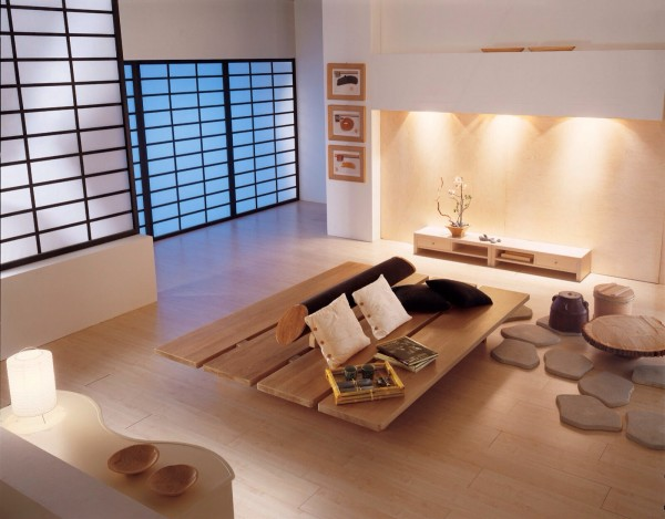 Japanese interior design is simple