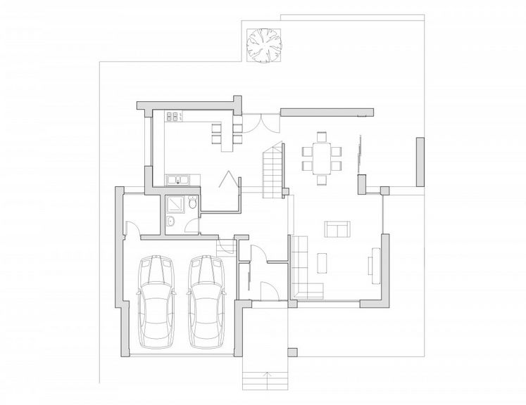 case cu terase din sticla House plans with glass terrace 7