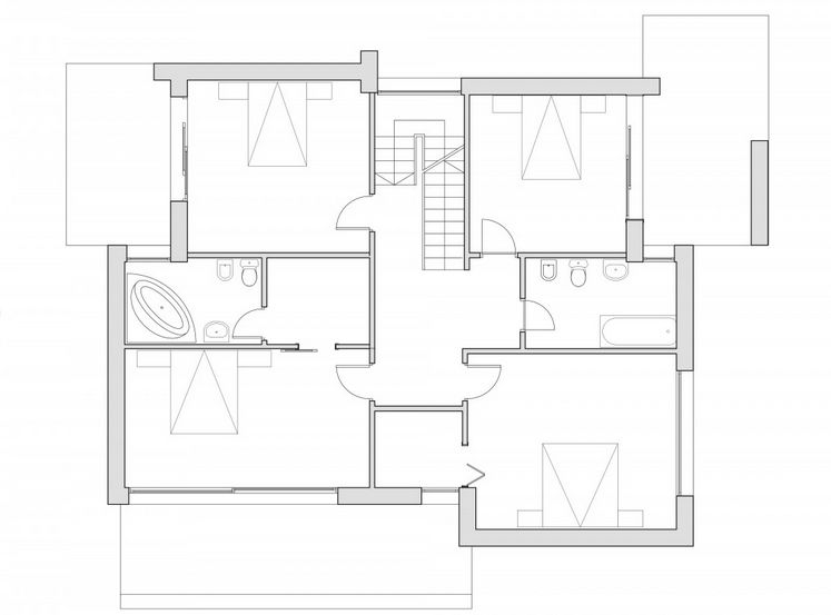 case cu terase din sticla House plans with glass terrace 8