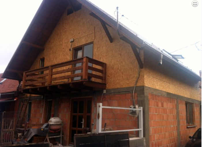 case mixte din caramida si lemn Brick and wooden structure houses 3